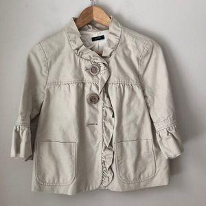 J. Crew Beige Cotton Bell Sleeve Jacket